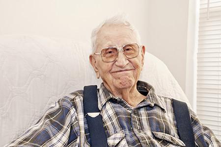 Man In Elder Care Service